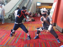 Kakashi vs. Obito [Naruto] by snoPuppy250