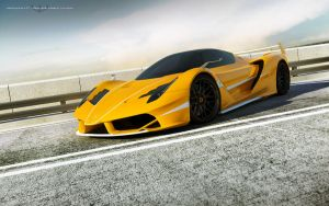 yellow Ferrari F70 FXX by wizzoo7