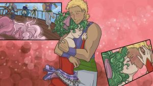Sabin and Terra Wallpaper by orinocou