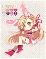 Offer to adopt: HeartCross Bunny [CLOSED] by ZenithOmocha