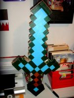Minecraft Diamond Sword by hklovesboba