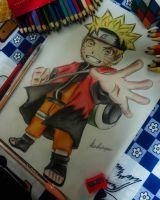 Naruto Mode Sennin Chibi by AlexiaRodrigues