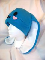 Blue and white bunny hat by kawaiibuddies