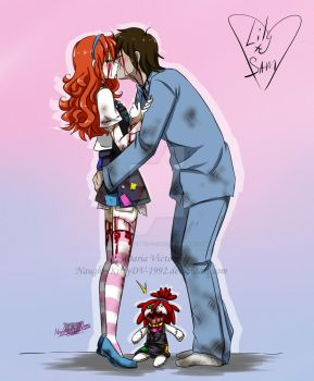 -Kiss- Lily+Sam by NaughtyKittyDV-1992