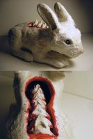 white rabbit by deermilk