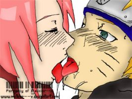 Naruto and Sakura :kiss: by Malkior--X