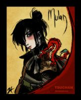 Mulan and Mushu by Tsuchan