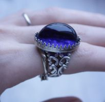 Blue winter ring by Pinkabsinthe