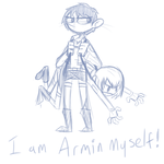 Armin myself (sketch) by Weaponized-Wafflez