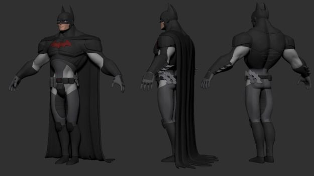 Batman WIP - color blockin by TheStoff