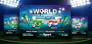 Worldcup Brazil 2014 | Horizontal Flyer Template by LouisTwelve-Design