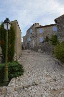 Street in stones to MONS Village by A1Z2E3R