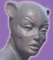 Catwoman Face detail by AlfredParedes
