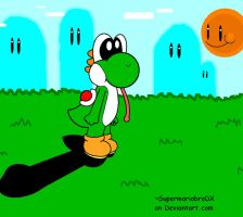 yoshi out on a nice day by supermariobroDX
