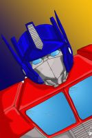 Number One Optimus by LittleMissSkuld