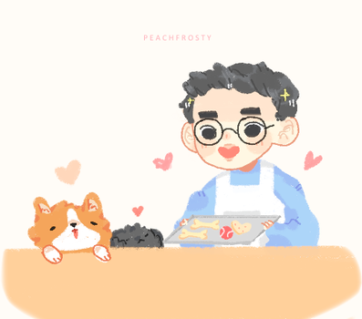 I want kyungsoo to bake treats for all the dogs by Lolibeat