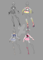 COM: Antigonia 4 designs by AshaYay