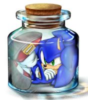 sonic in the bottle by shoppaaaa