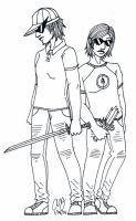 Genderbent Bro and Dave by penut-butter-goddess
