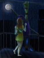 Kiss me in the rain by BrushBell