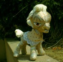 Granny Smith rag doll, view 2 by joitheartist