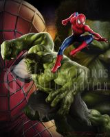 Spiderman x Hulk by Bigboithomas84