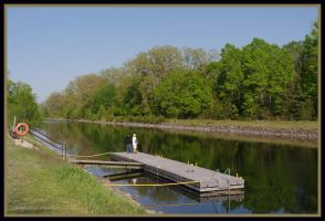 Fishermen near Stirling, Ontario by squareprismish