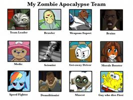 My Zombie Apocalypse Team by Inkheart7