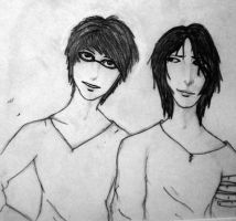 padfoot and prongs inked by retrobishojo