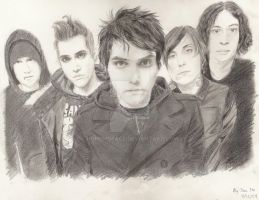 My Chemical Romance drawing by hohohoface