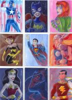 Superhero Sketchcards II by LEXLOTHOR