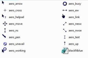 Black N Blue Aero Cursor Theme by mrburns05