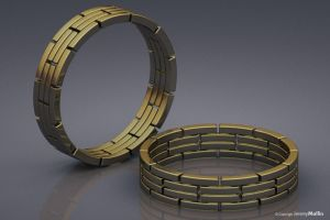 Chain Link Ring Band by JeremyMallin