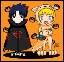 Request: SasuNaru's Halloween by honeyf