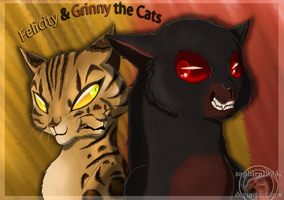 A Deadly Duo - Felicity and Grinny the Cat by Sapphiresenthiss