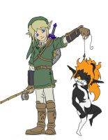 Link's Catch of the Day WIP by FiercerDeity