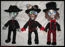 Steam Powered Giraffe Plushies by DonutTyphoon