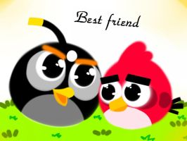 Angry birds -Best Friend wallpaper by emily-the-wolf