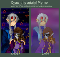 Meme  Before And After / Ren and Pumpkin by Margaret-Lupin