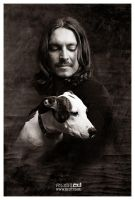Portrait of Jesus with Dog by rust2d