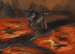 End of The World, Celshaded Wolf YCH [CLOSED] by WulfTheWolf