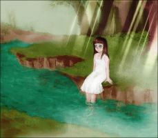 Loli in the forest by amingo