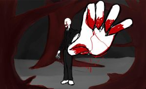 Slender getcha (close) by CaosDraws