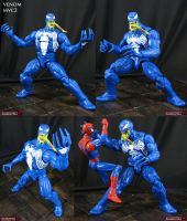 Custom Marvel vs Capcom 2 Venom action figure by Jin-Saotome