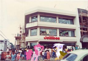 Pinkie And Gilda At Jollibee Bolton by RicRobinCagnaan