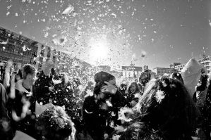 Berlin pillow fight 2011 - 4 by Egg-Salad