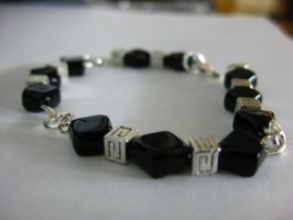 Black and Silver Bracelet by DanikaMilles