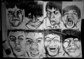 The many faces of... by Adobo-Child