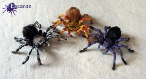 Halloween Tarantulas -  Sculptures by Escaron