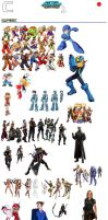 PSASBR 2 Japanese Manufacture Characters Roster C by pp7jones
